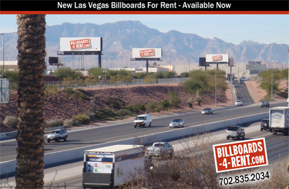 Four Billboards available near Las Vegas airport and strip.