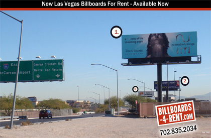 Best location for outdoor billboards in Las Vegas Strip and Freeway to airport.
