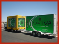 billboard truck and attachable trailer for sale Las Vegas, Phoenix, San Diego, Los Angeles, Scottsdale, and Tempe